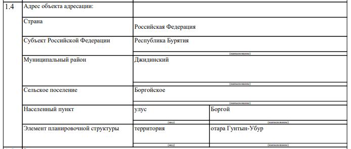 Как ввести сложный адрес в заявление на патент ИП